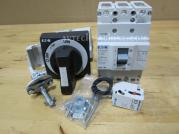 BZMD1-A80 BZM1-XTVD BZM1-XA230-240VAC Eaton Thermal-Magnetic Breaker 80A With Rotary Handle & Shunt Trip